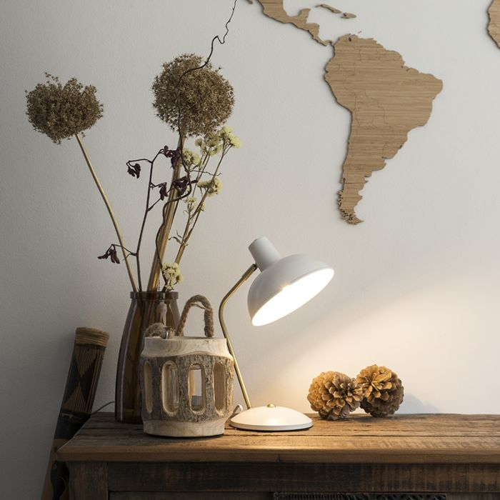 Retro-table-lamp-white-with-bronze---Milou
