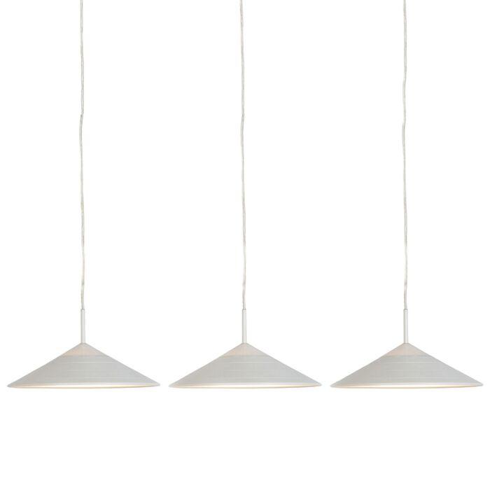 Set-of-3-Modern-Pendant-Lamp-White-incl.-LED---Lupos