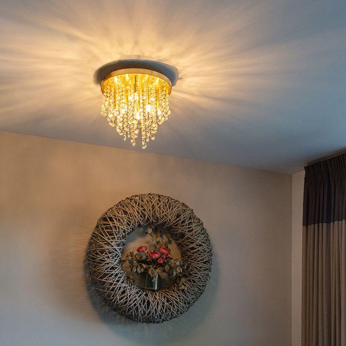 Classic-ceiling-lamp-gold-/-brass-35-cm---Medusa