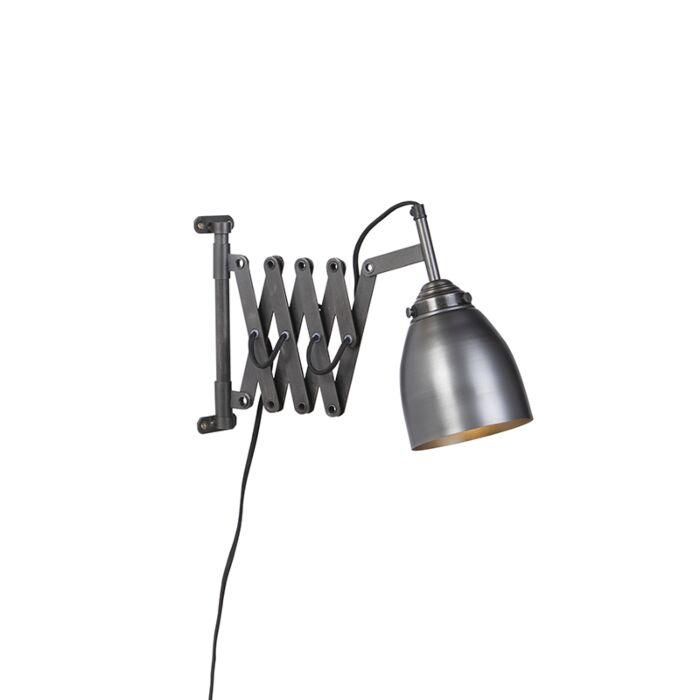 Vintage-extendable-wall-lamp-antique-zinc---Scissors