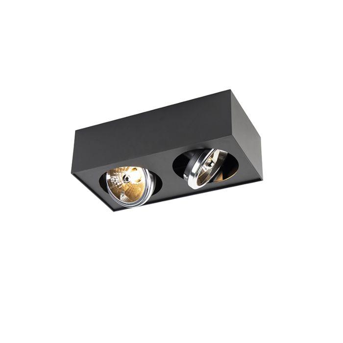 Modern-Square-Spotlight-2-Black-incl.-G9-LED---Kaya-