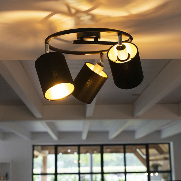 Modern-Ceiling-Lamp-3-Black---Lofty
