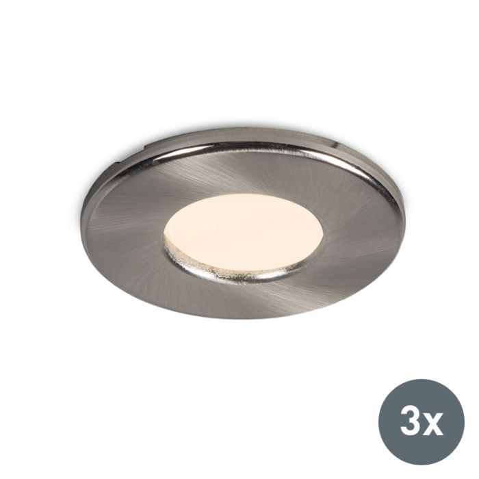 Modern-round-recessed-spot-set-of-3-IP44---Hole