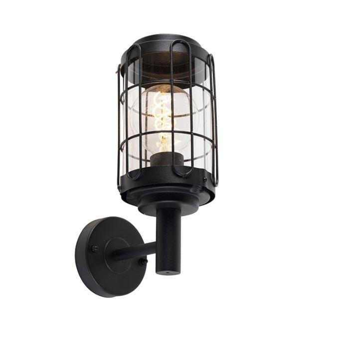 Industrial-wall-lamp-black-IP44---Bares
