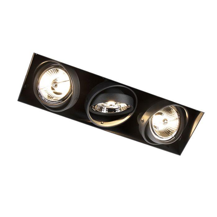 Modern-Recessed-Spotlight-Black-GU10-AR70-Trimless---Oneon-3