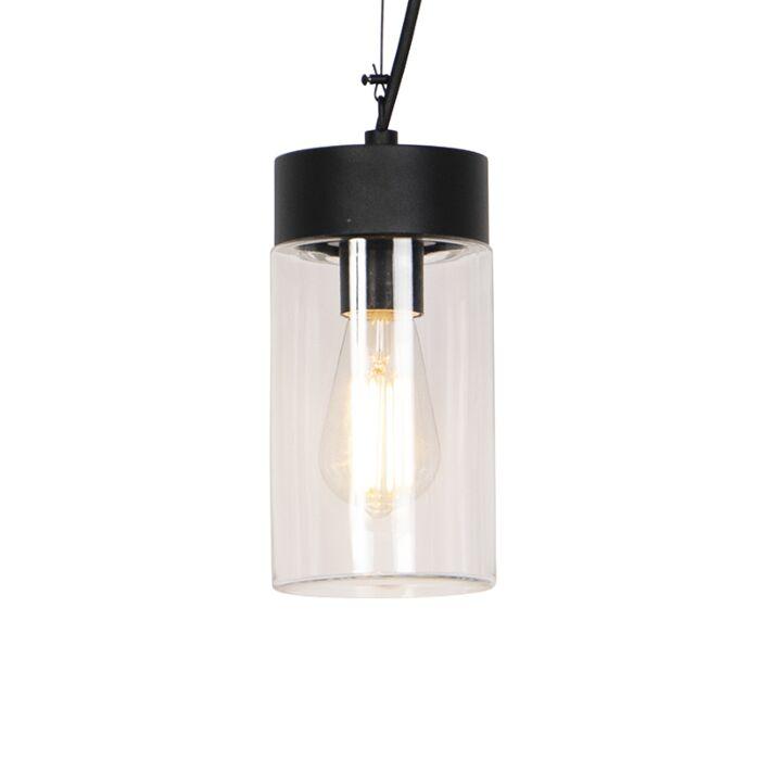 Modern-hanging-lamp-black-IP44---Jarra