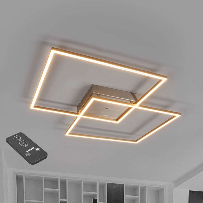 Modern ceiling lamp 67.7 cm incl. LED and dimmer Mirac