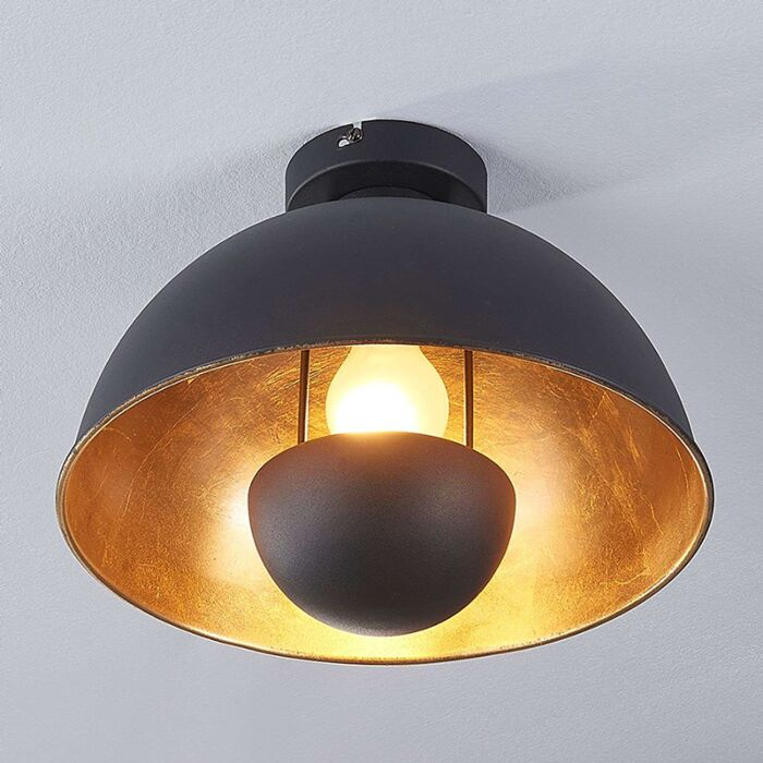 Industrial-ceiling-lamp-black-with-gold---Magna-Eglip