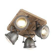 Industrial-spot-steel-with-wood-tiltable-4-light---Emado