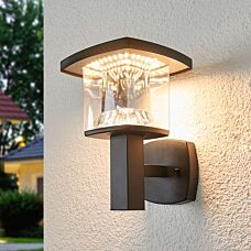Tight-square-outdoor-lamp-stainless-steel-black-incl.-LED---Askan