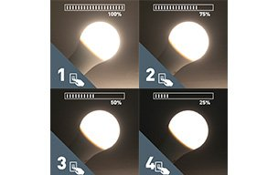 4 steps dimmable