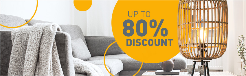 Now up to 80% discount