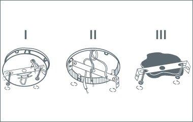 Step 2. Attach the ceiling bracket
