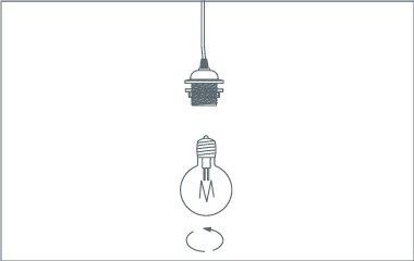 Step 5. Insert light bulb